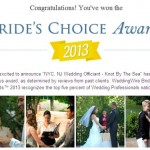 2013 Wedding Wire Bride's Choice Award Recipient