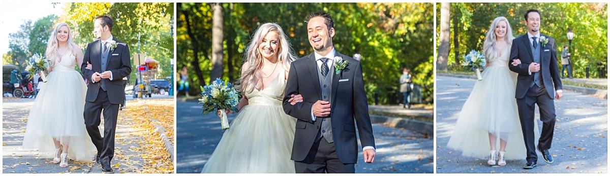 Fall Central Park Wedding Elopement