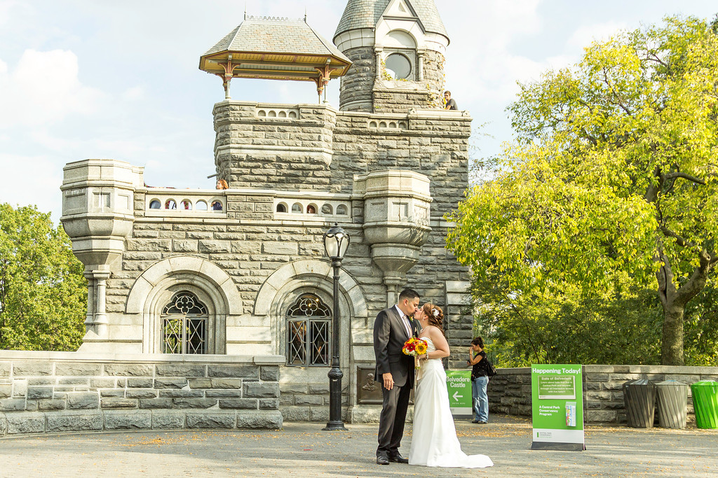 Belvedere Castle Central Park Elopement
