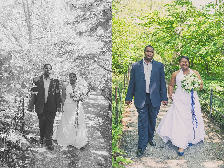 Central Park Wedding - Father and Daughter
