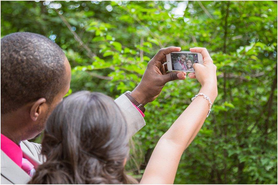 Central Park Wedding Selfie