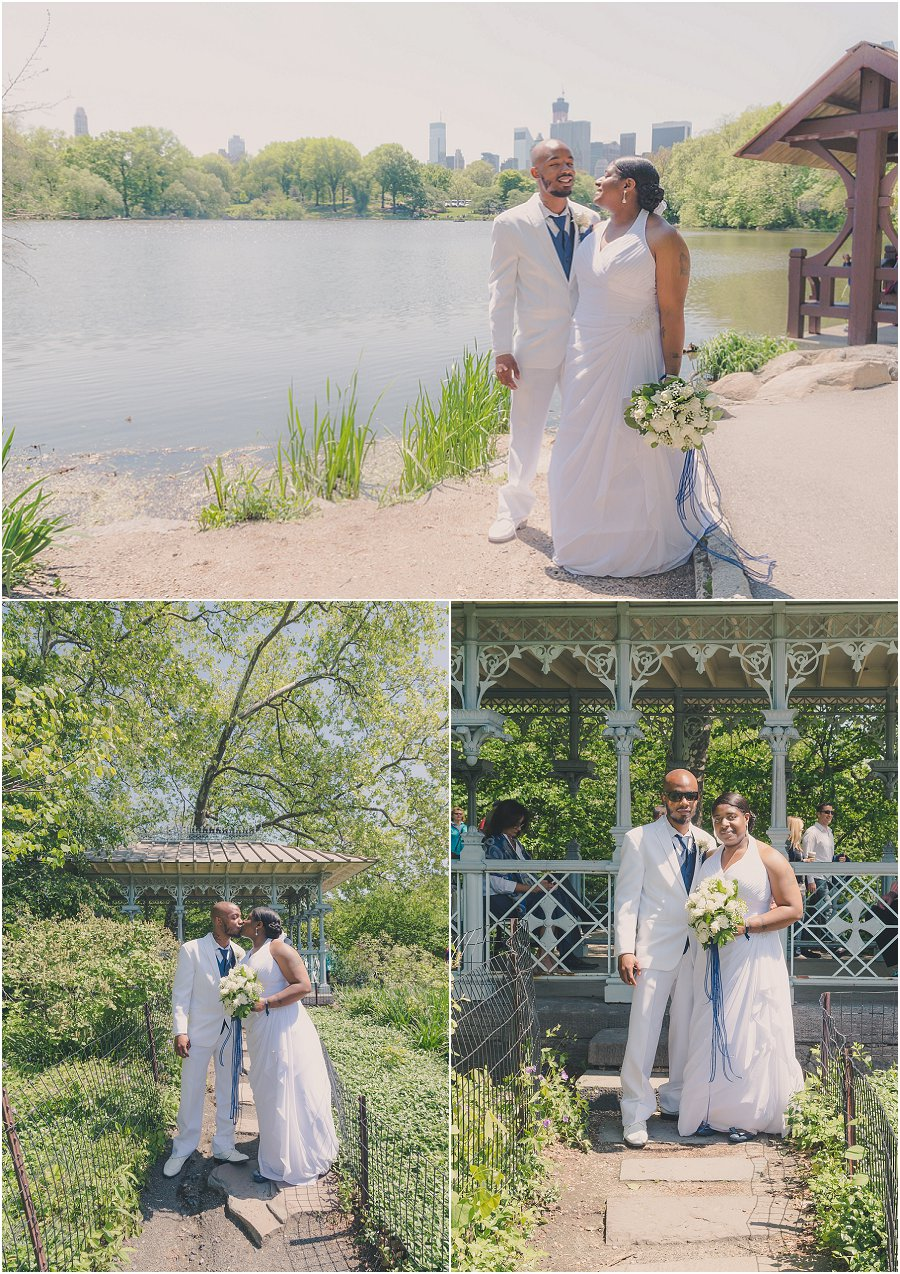 Central Park Wedding the Lake