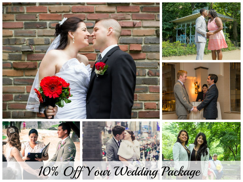 10% off you wedding services in NYC