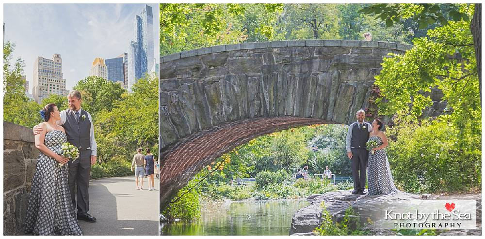 Gapstow Bridge Central Park Wedding Summer