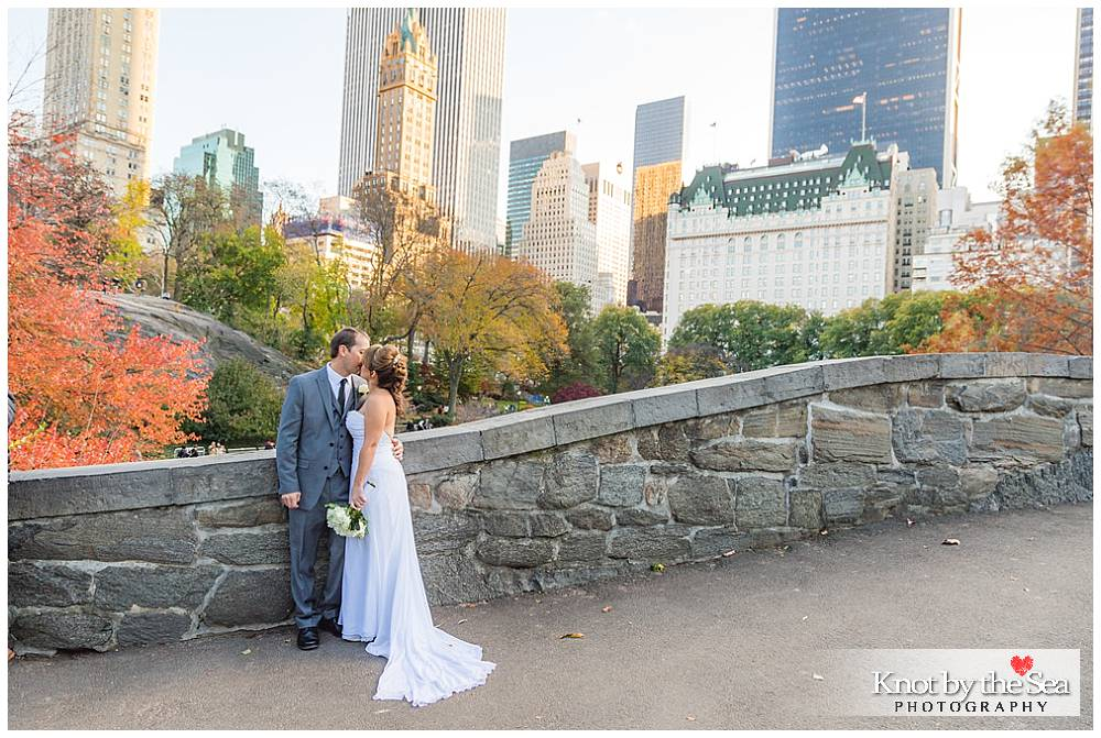 Gapstow Bridge Central Park Wedding in the Fall