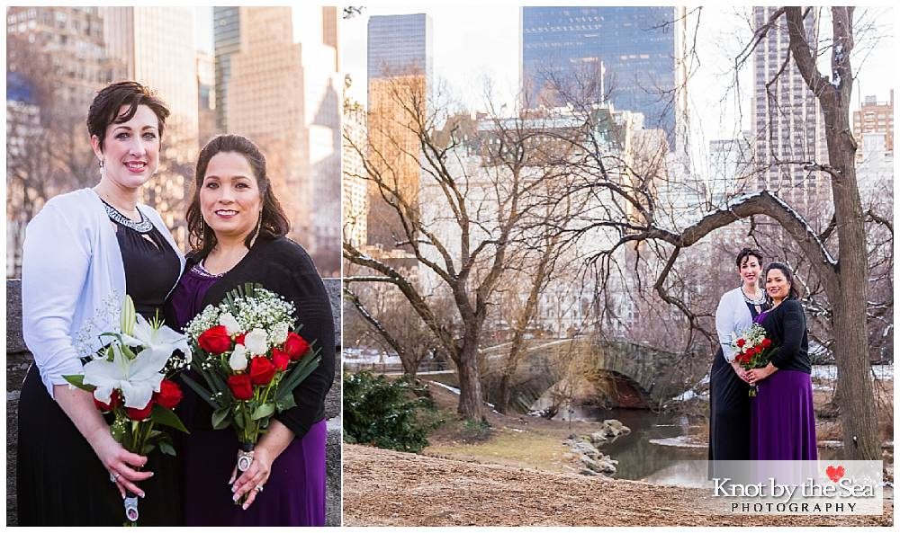 Gapstow Bridge Central Park Wedding WInter
