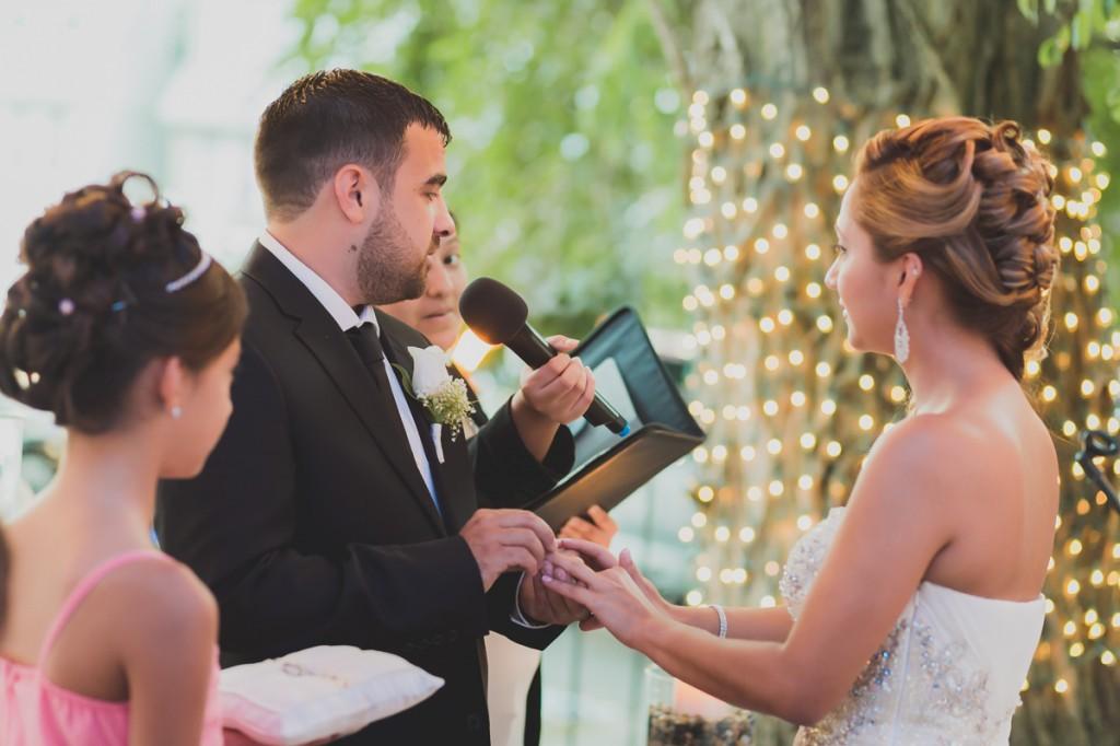 Backyard Wedding Ceremony In Queens New York